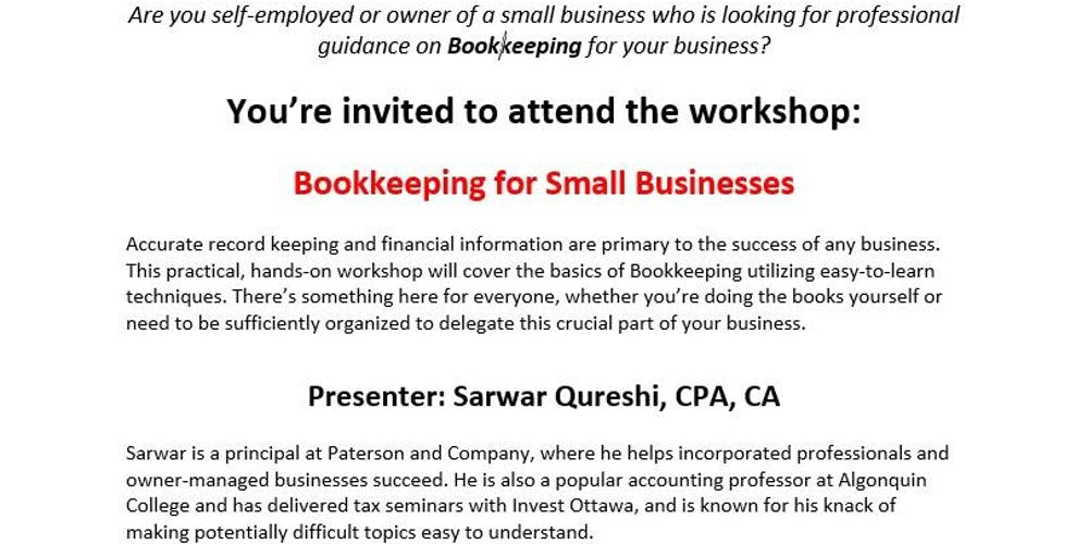 Bookkeeping for small businesses tickets mon jul 23 2018 at 930 bookkeeping for small businesses tickets mon jul 23 2018 at 930 am eventbrite solutioingenieria Image collections