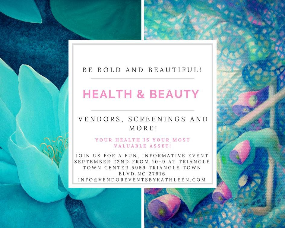 Calling All Health & Beauty Vendors - Sign Up
