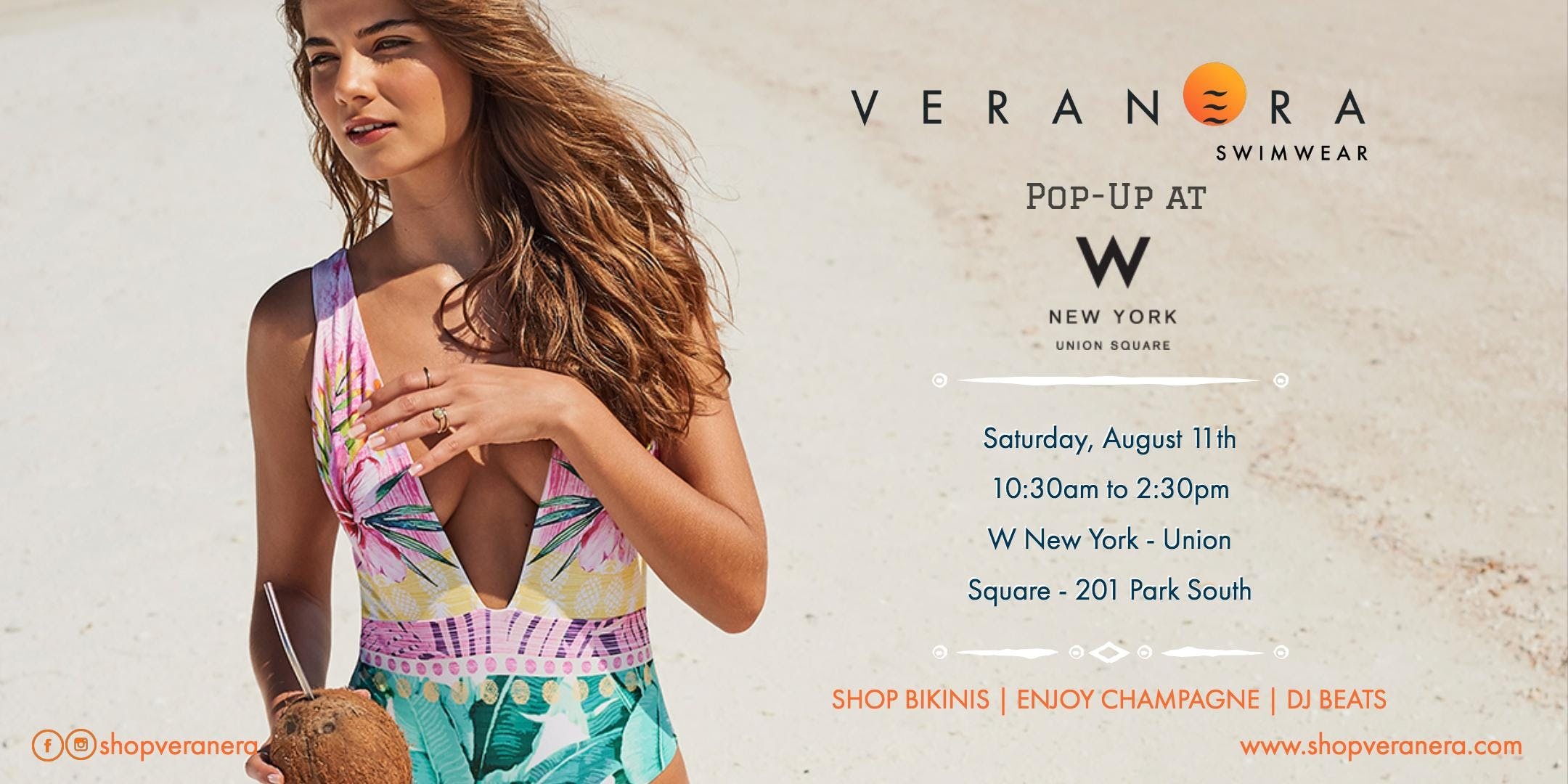 41e909154b7 Veranera Swimwear Pop-Up at W New York – Union Square - 11 AUG 2018