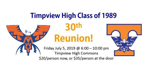 Timpview High Class of 1989 - 30th Reunion!