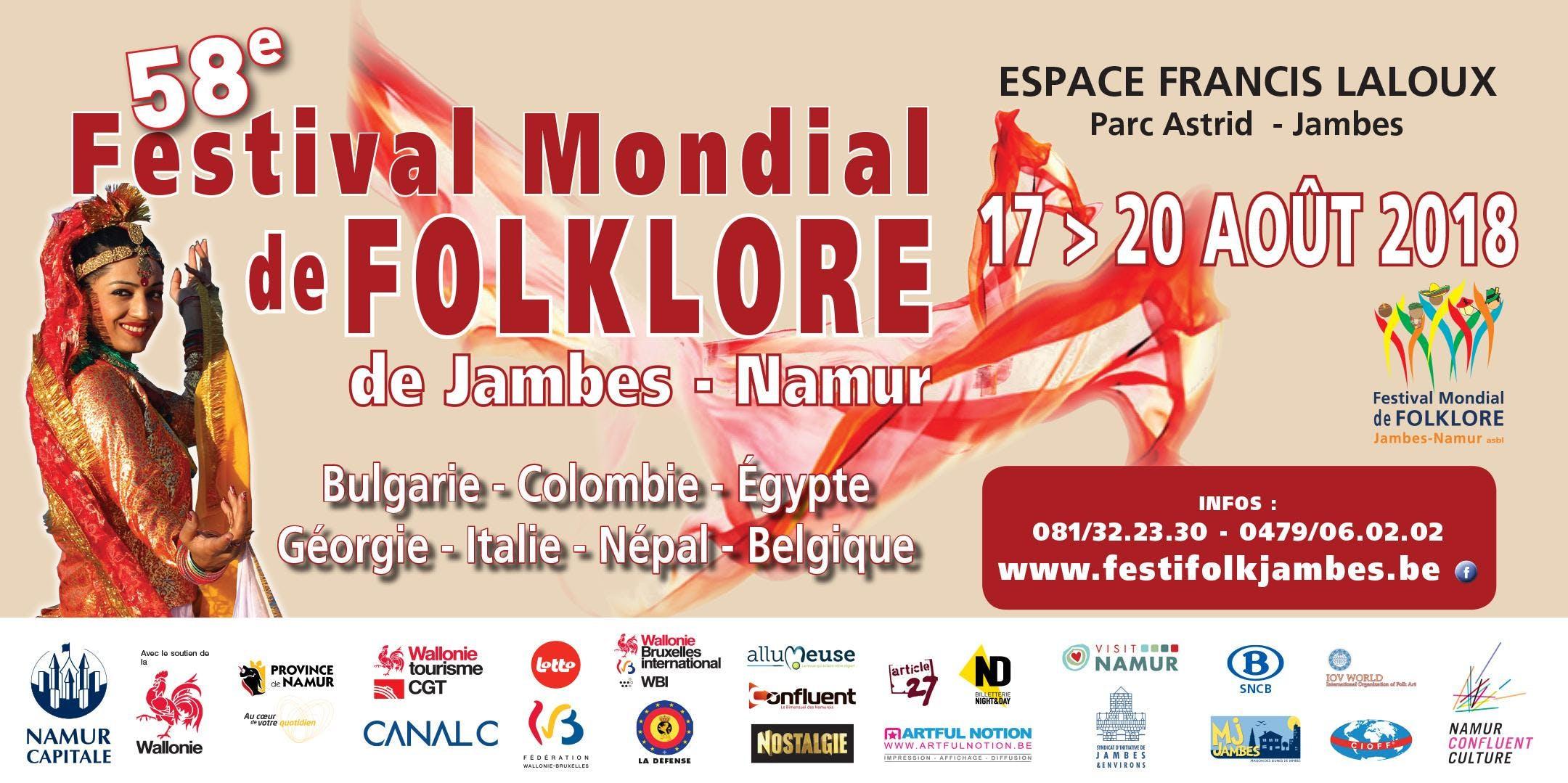 58ème Festival mondial de folklore de Jambes-