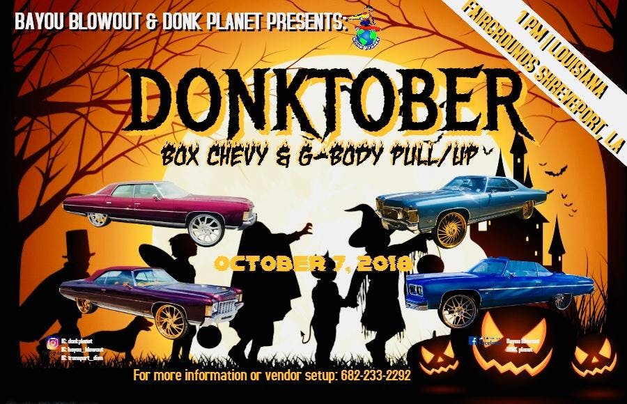 DONKTOBER Box Chevy GBody PullUp OCT - Donk planet car show