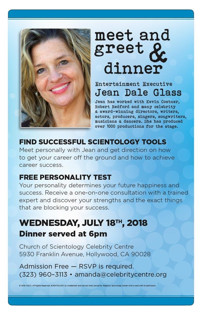 Free Actors Dinner And Meet Greet With Exec Producer Jean Dale