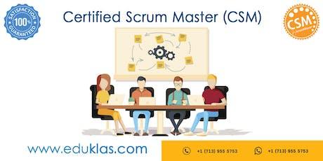 Scrum Master Certification | CSM Training | CSM Certification Workshop | Certified Scrum Master (CSM) Training in Santa Clara, CA | Eduklas tickets