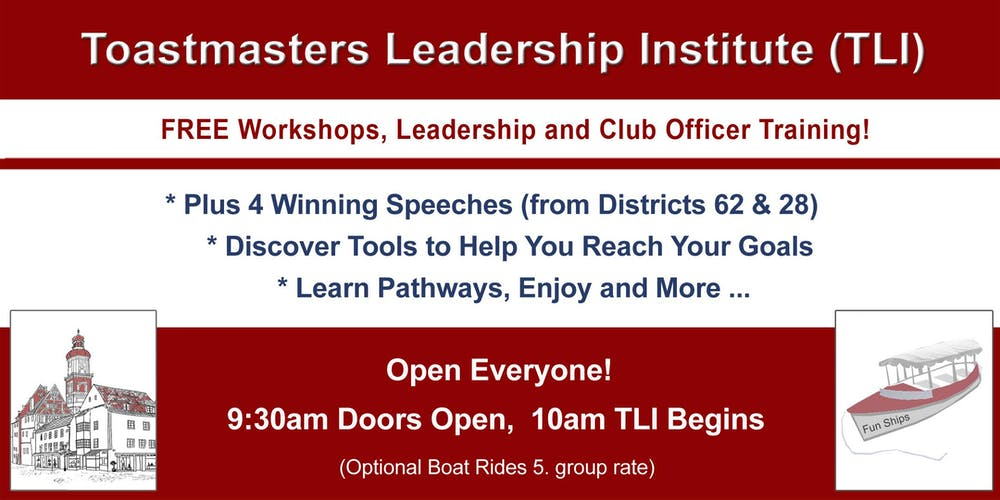 Frankenmuth - Toastmaster Leadership Institute (TLI) Tickets, Sat ...