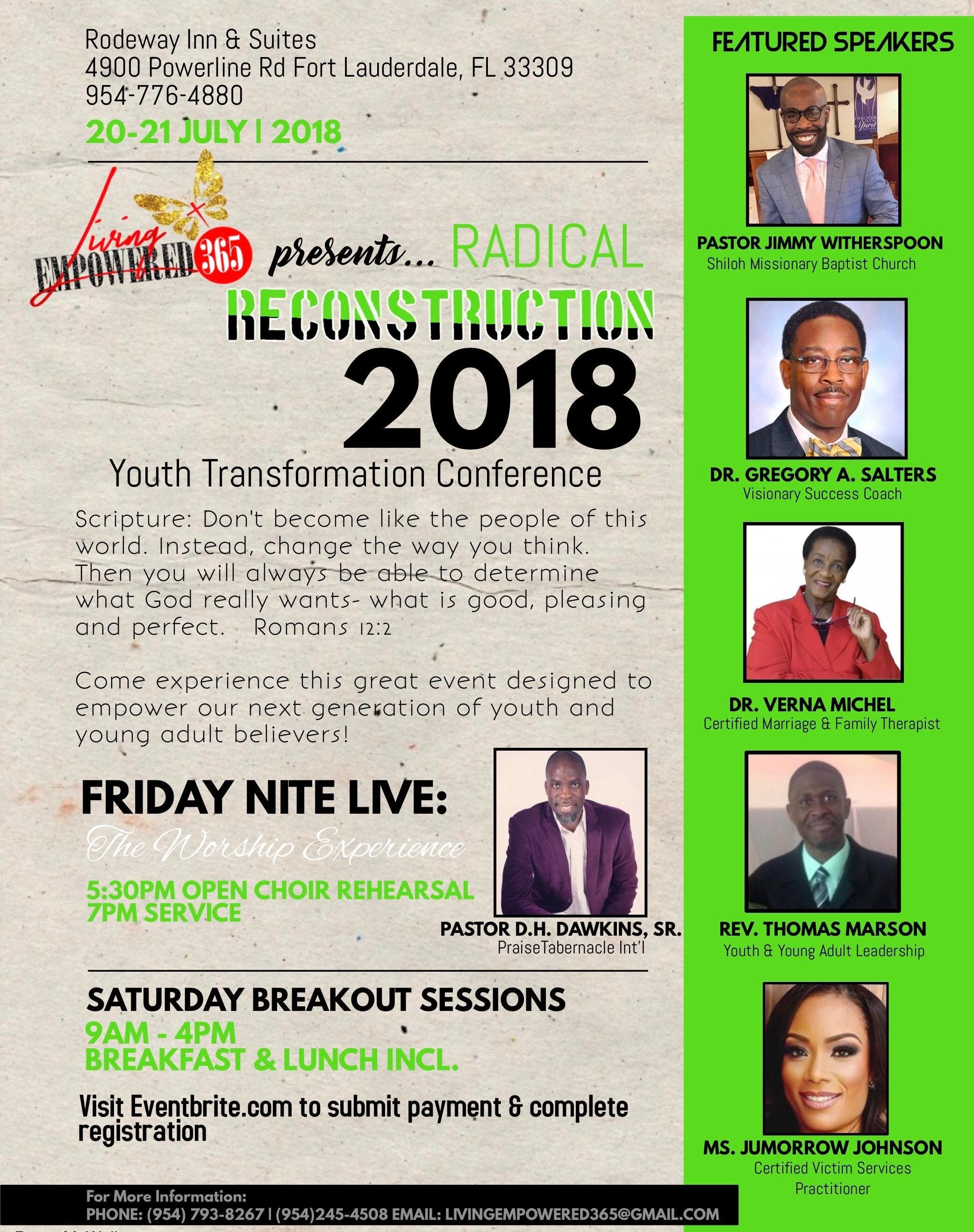 Radical Reconstruction Youth Adult Transformation Conference 2018