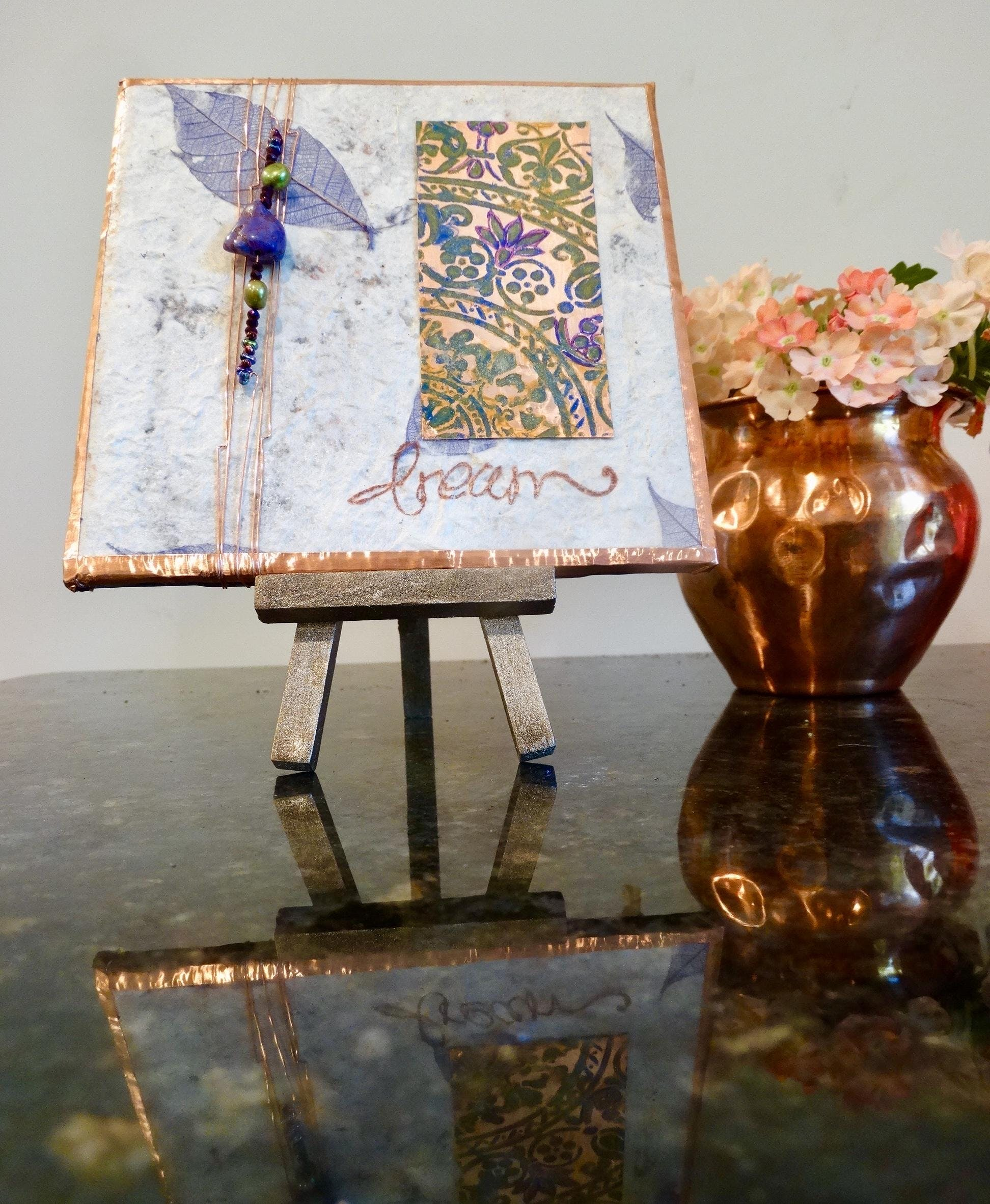 Tile & Copper Mixed Media Artshop! Includes a