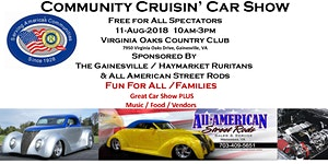 Community Cruisin' Car Show Vendor Registration