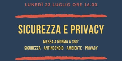 SICUREZZA E PRIVACY