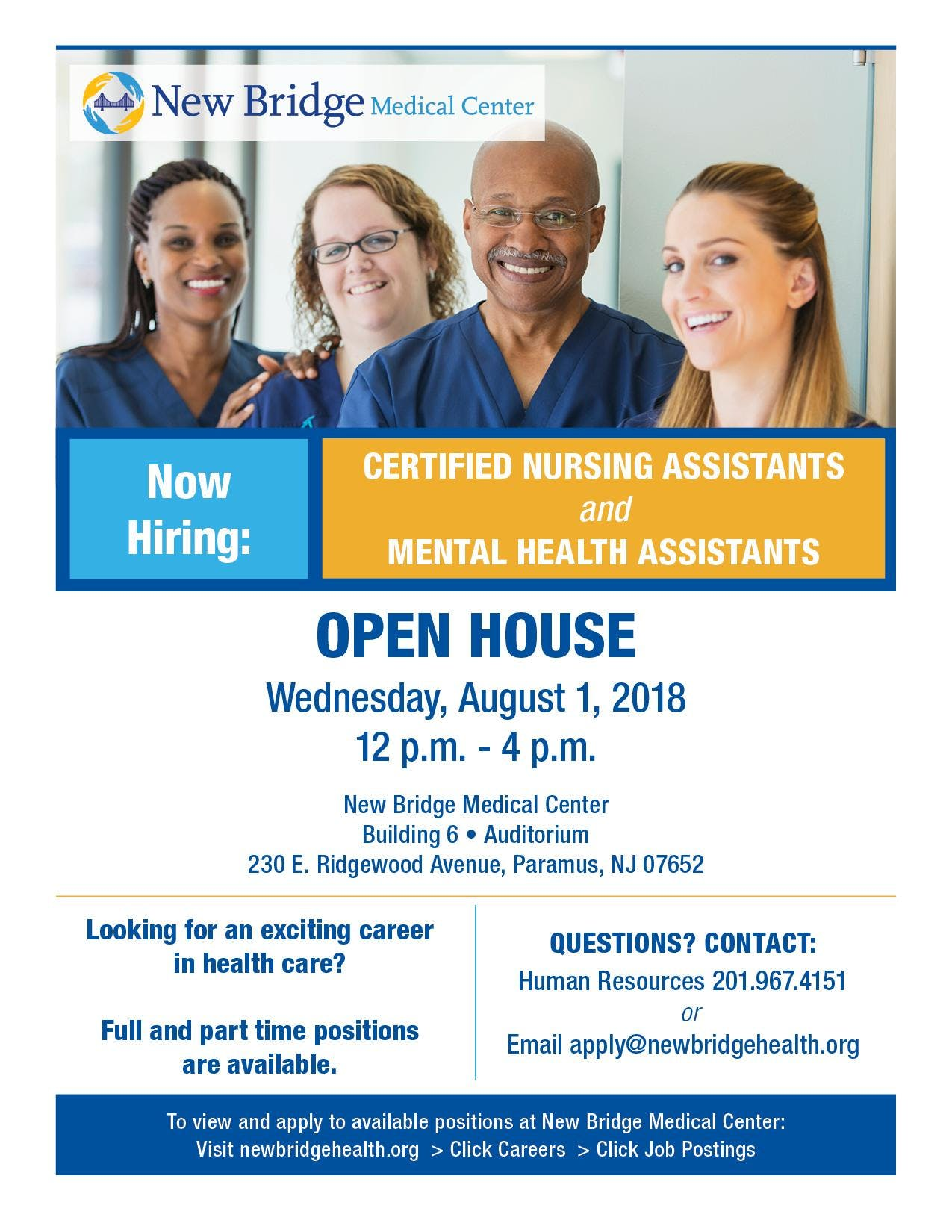 Job Fair Open House For Certified Nursing Assistants And Mental