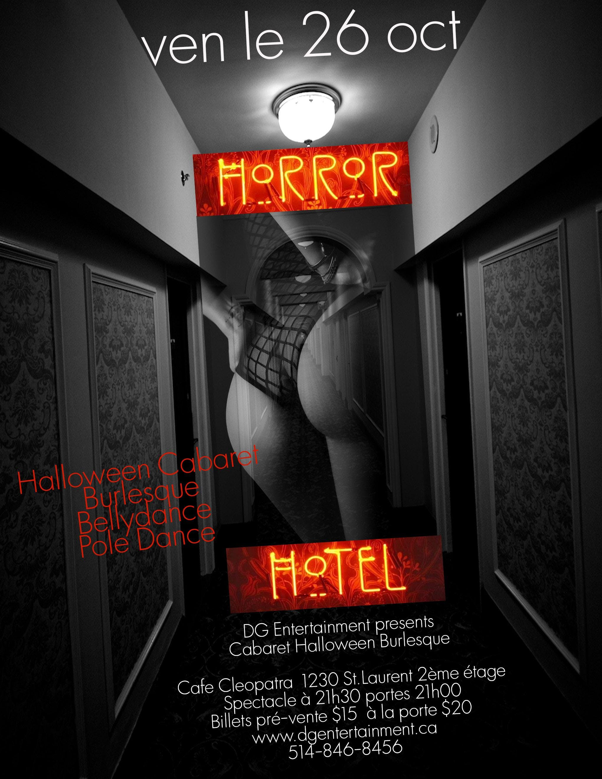 """Horror Hotel""-Burlesque Halloween Cabaret"