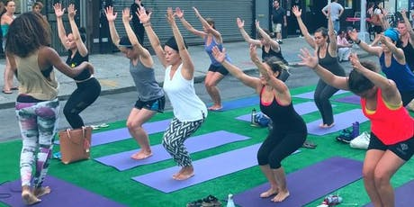 Free Community Yoga Flow Class at South Slope Summer Strolls tickets
