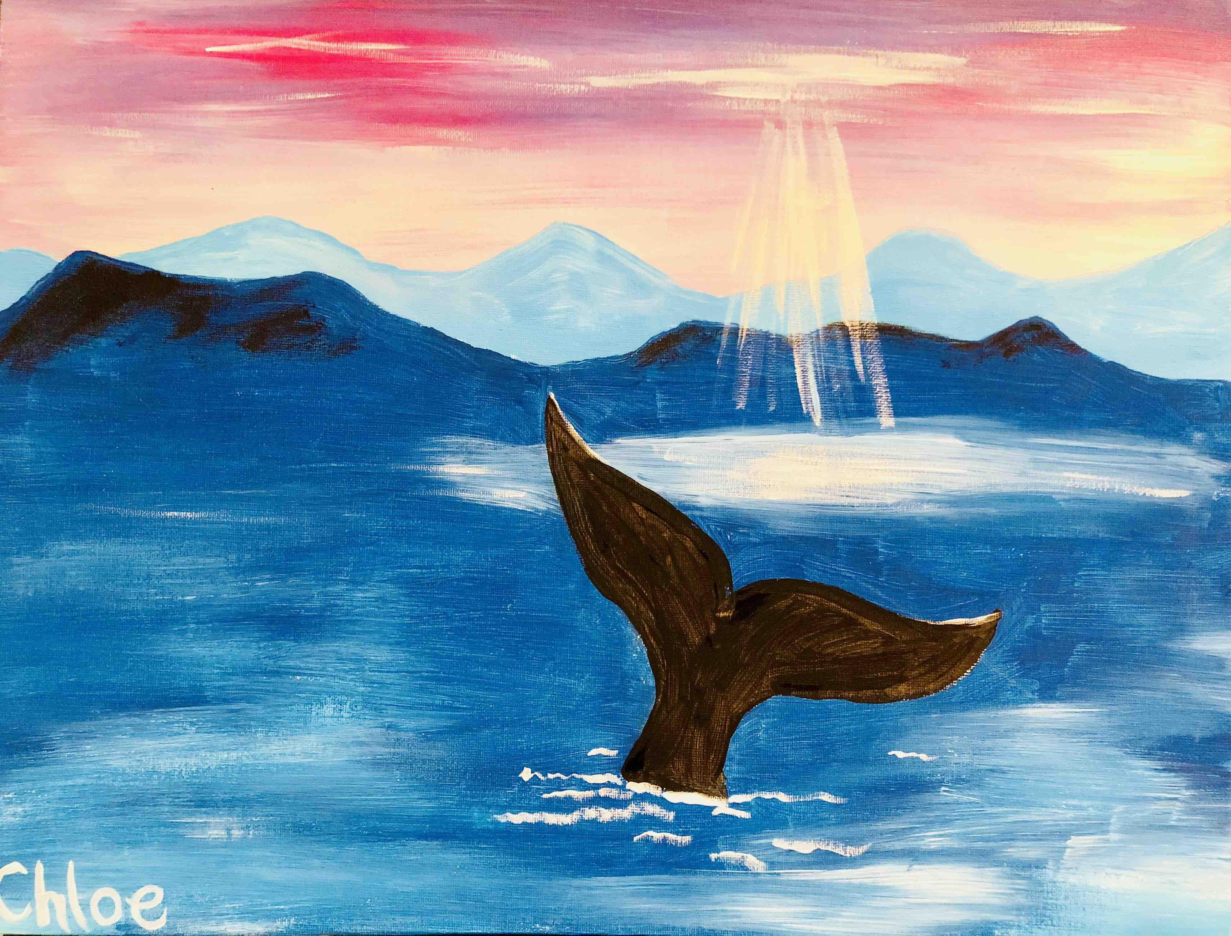 family friendly painting class whale tale 16 sep 2018