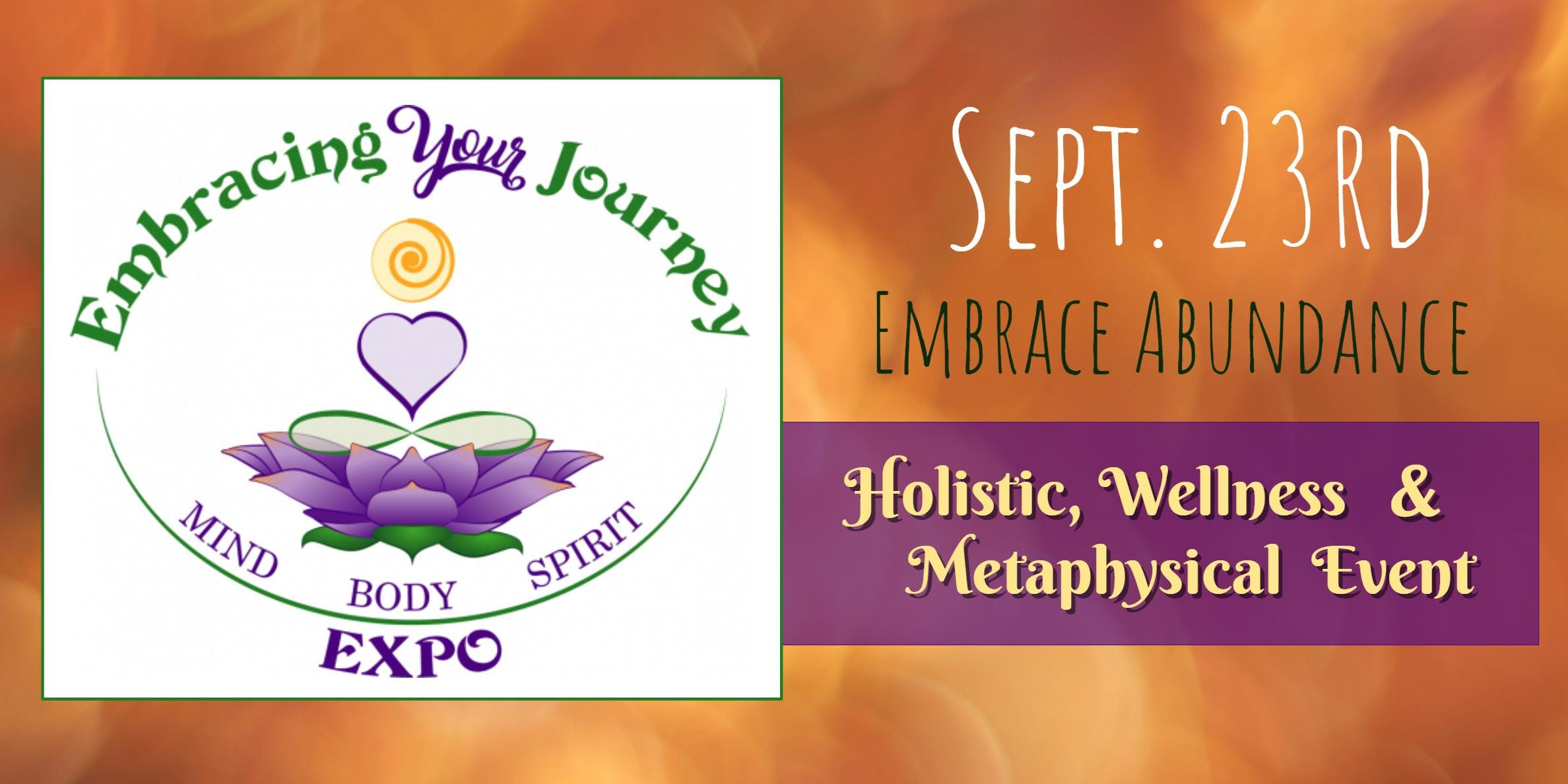 Embracing Your Journey Expo - September 23rd 2018