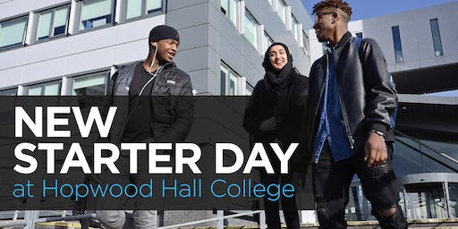 Hopwood Hall College New Starter Day 2019