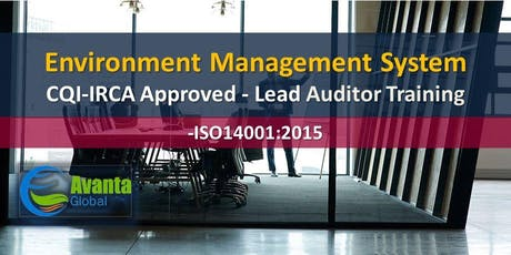 CQI-IRCA Approved - ISO 14001:2015 Environment Management Systems Auditor / Lead Auditor Training Course tickets