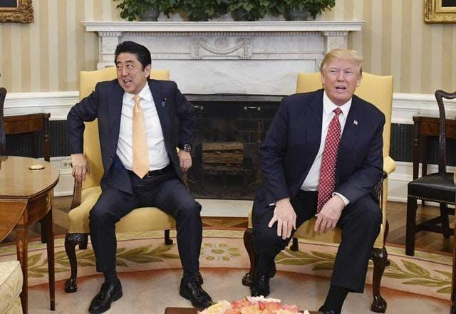 """""""Trump/Abe Bromance - An Assessment"""" // Lunch"""