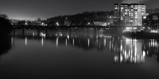 Hunt's Photo Walk: Haverhill at Night in Black & White