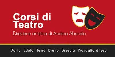 Lezione di prova- Corso di Teatro - Registrati nella sede più vicina a te!