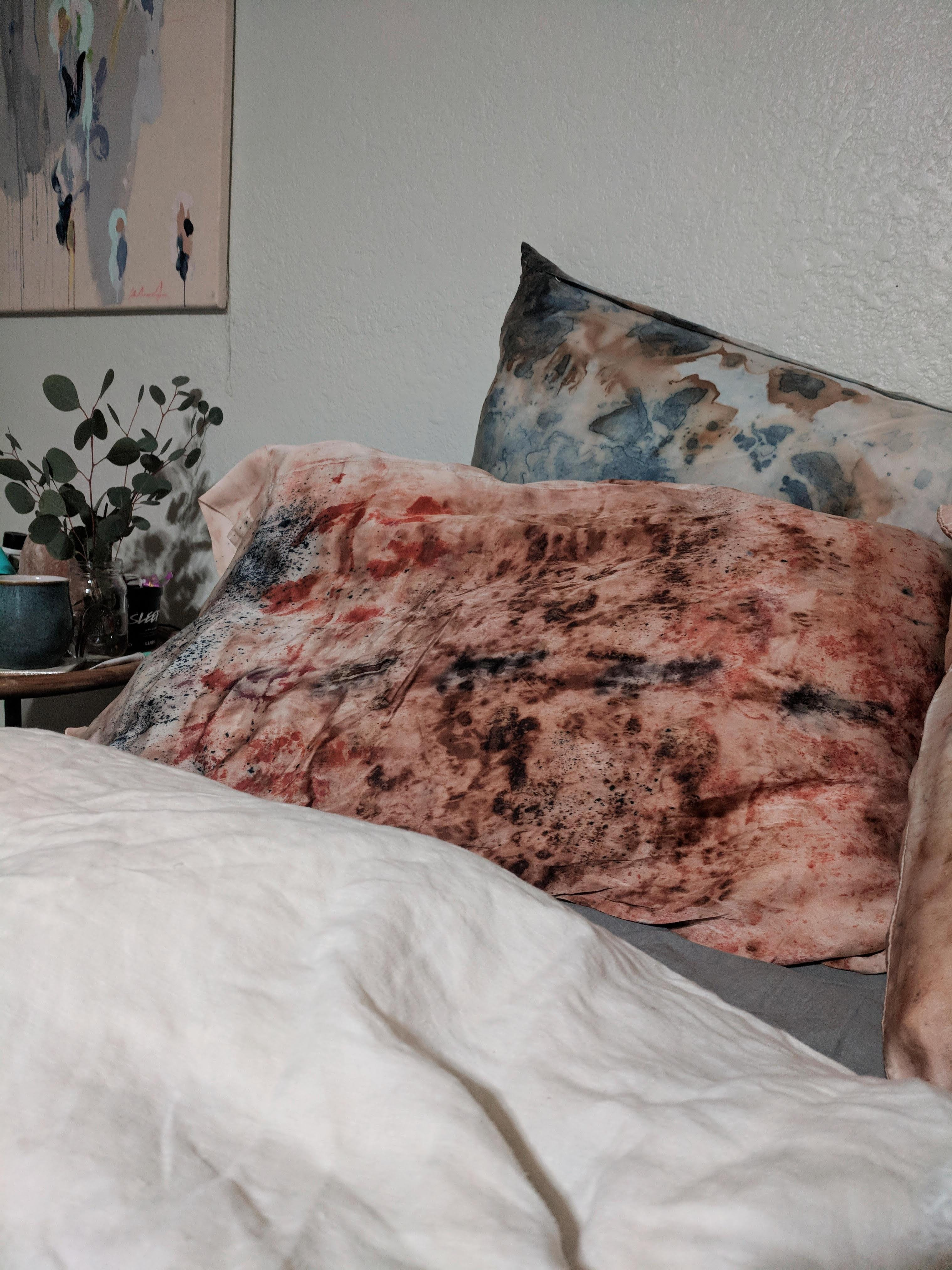 Natural Silk Pillowcase Dying Workshop with S