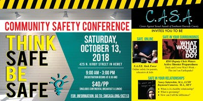 THINK SAFE - BE SAFE! Community Safety Conference