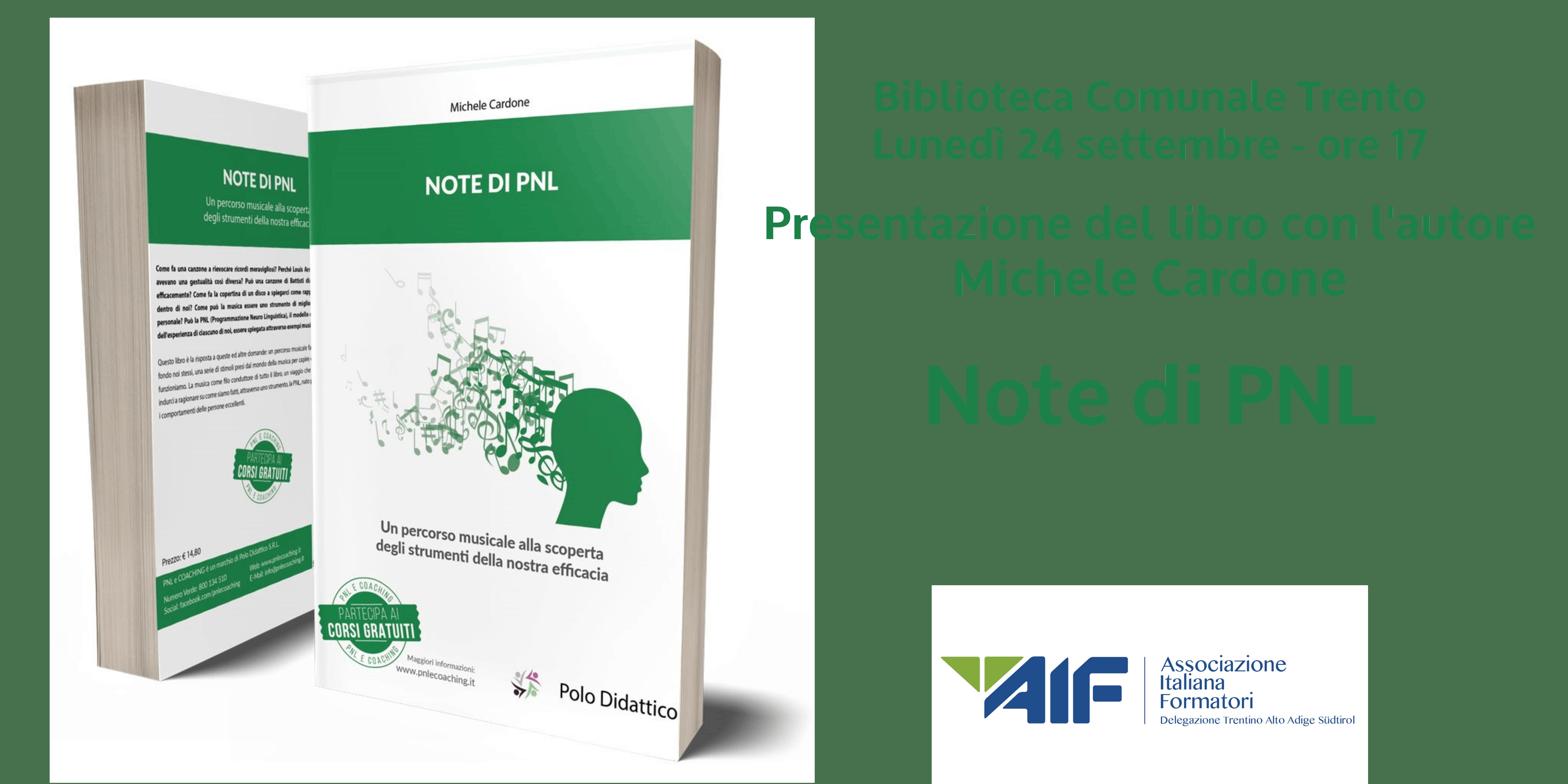 """Presentazione del libro """"Note di PNL"""" con l'a"""