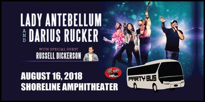 Lady Antebellum Party Bus to Shoreline Amphitheater