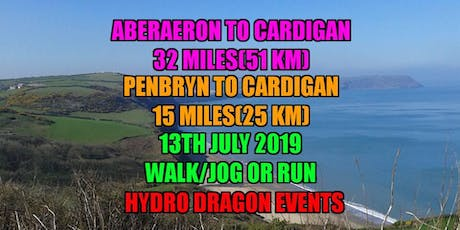 Aberaeron to Cardigan 32 Mile. Penbryn to Cardigan 15 mile. Walk/Jog or Run Challenge Event tickets
