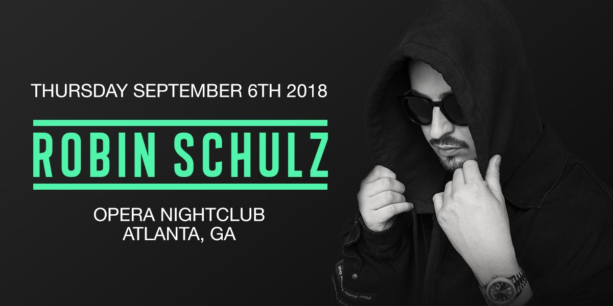 robin schulz thursday september 6th 2018