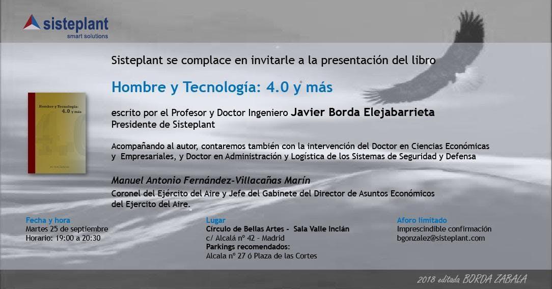 """Presentación libro """"Hombre y Tecnología: 4.0"""