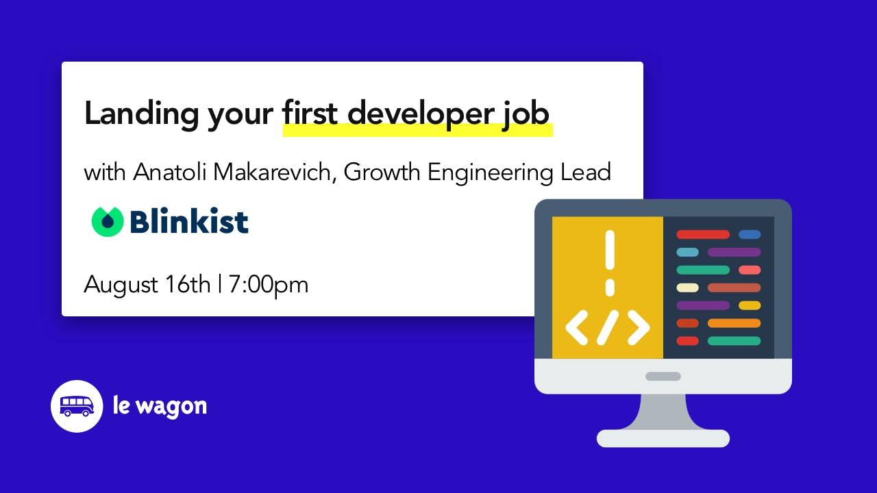 Landing Your First Developer Job with Anatoli