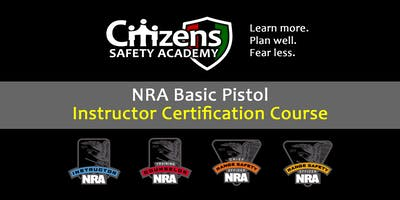 NRA Basic Pistol Instructor Certification Course (Lakeland, TN)