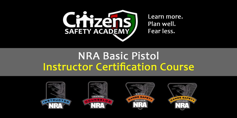 Nra Basic Pistol Instructor Certification Course Lakeland Tn
