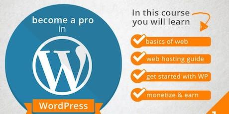 Web Development Using WordPress- Introduction & Fundamentals biglietti