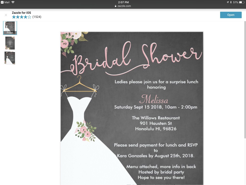 melissas surprise bridal shower