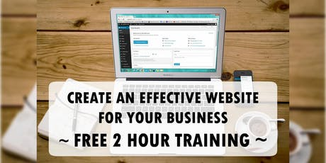 Create An Effective Website For Your Business Online Workshop tickets