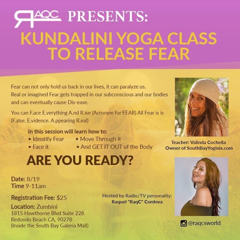 Kundalini Yoga Class to RELEASE Fear