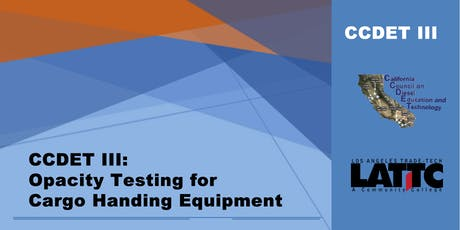 CCDET III: Opacity Testing for Cargo Handling Equipment tickets