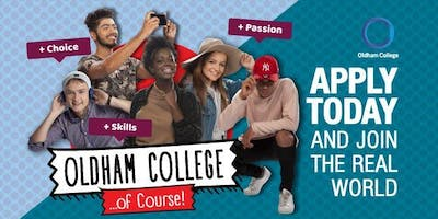 Open Day at Oldham College - 11th May, 11am - 2pm