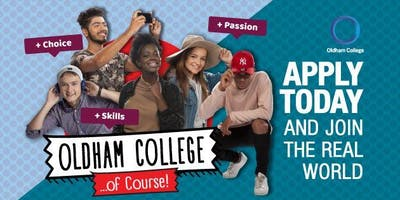 Community Open Day at Oldham College - 6th May, 11am - 2pm