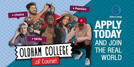 Community Open Day at Oldham College - 6th July, 10am - 1pm