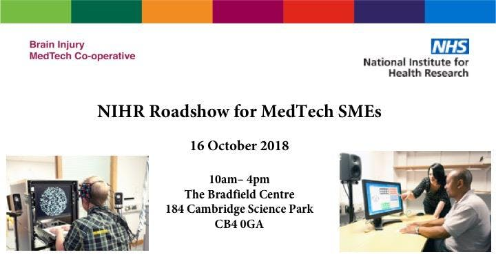 NIHR Roadshow for Medical Technology SMEs