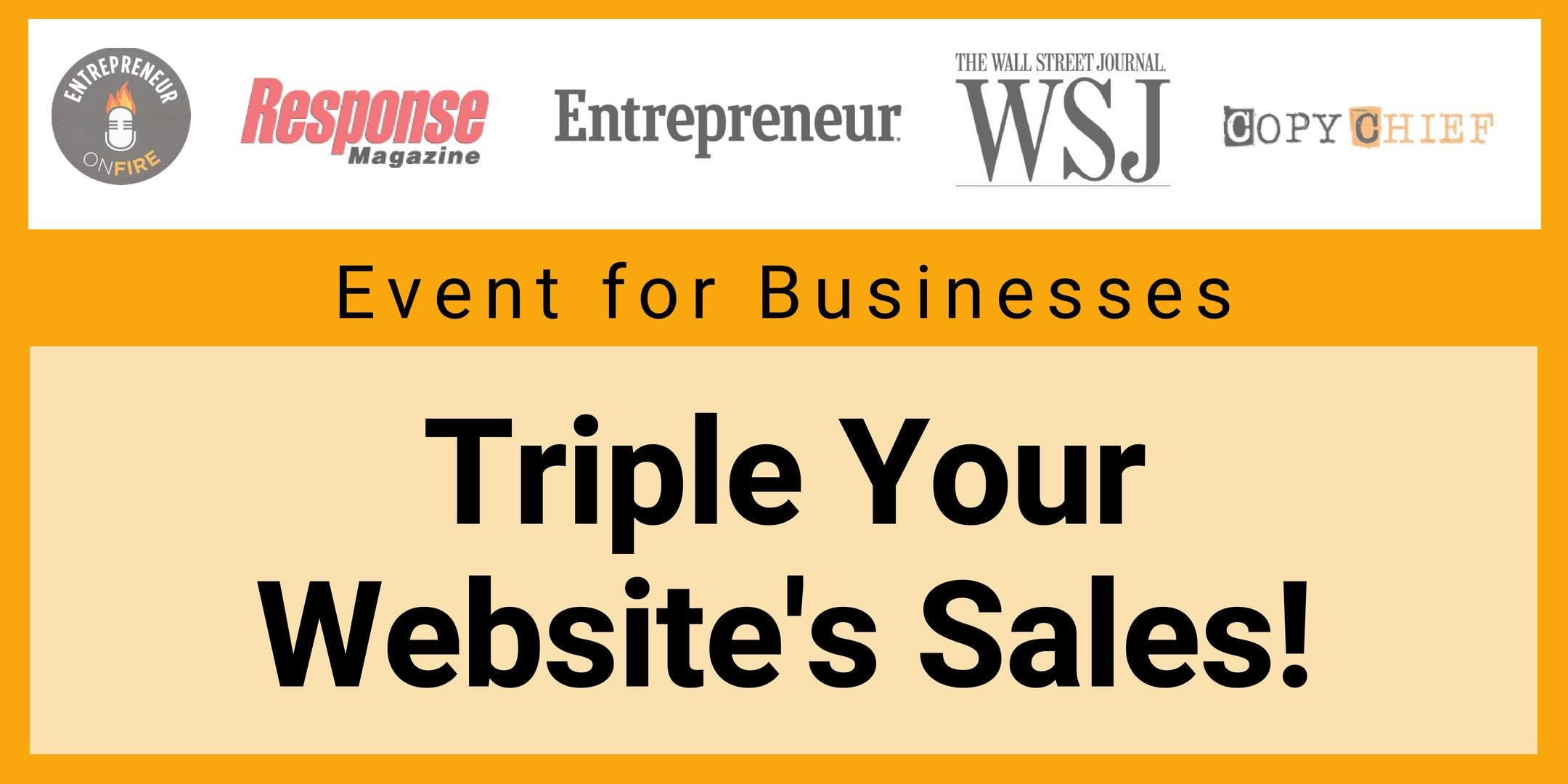 Free Event - Secrets to Triple the Amount of