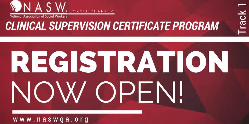 Naswga Chapter Clinical Supervision Certificate Program 19 Oct 2018