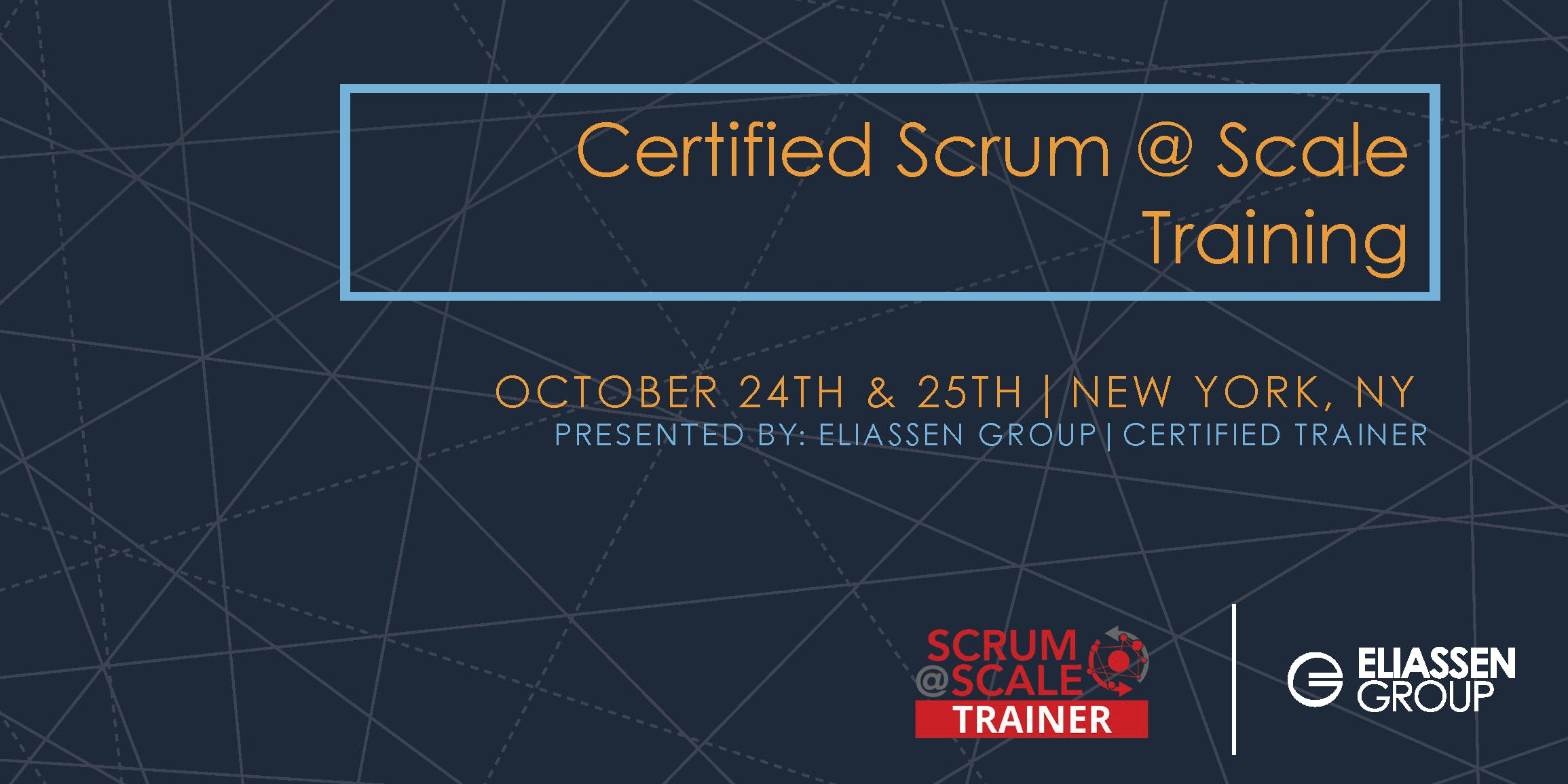 Certified Scrum Scale Training Nyc Oct 2018 24 Oct 2018
