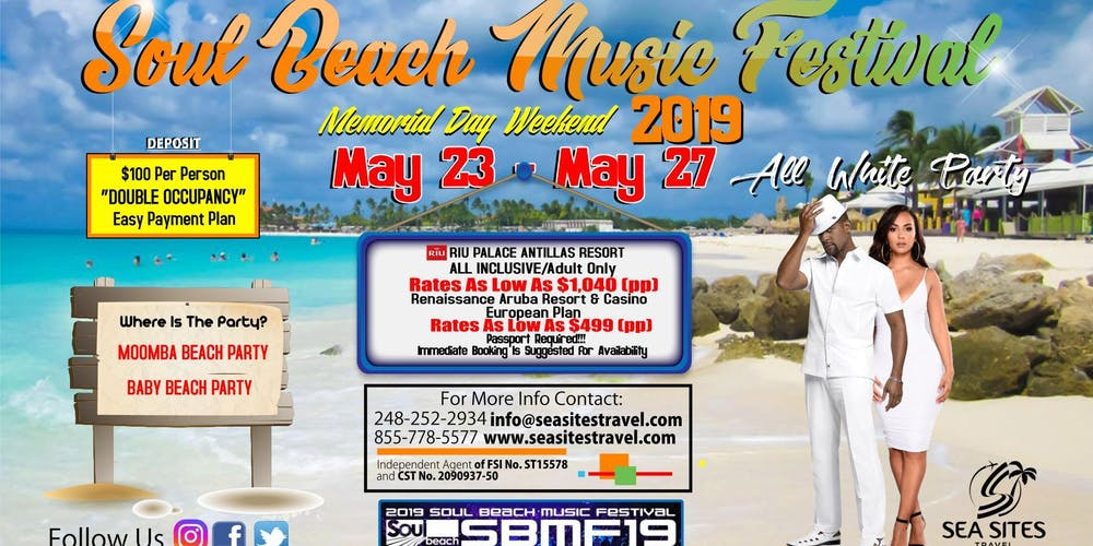 ca381409c 2019 Aruba Soul Beach Music Festival Tickets