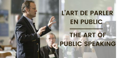 L'art de parler en public | The art of public speaking tickets