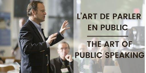 L'art de parler en public | The art of public speaking