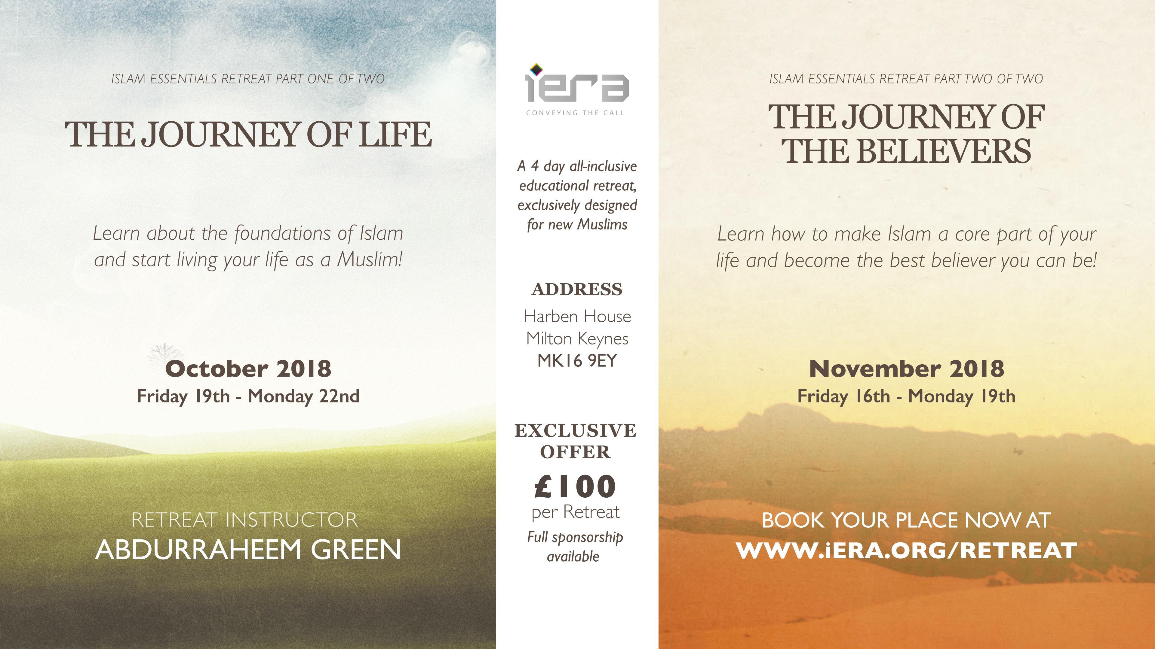 The Journey Of Life - Islam Essentials Retrea