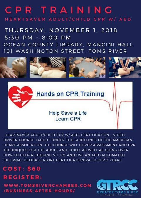 Cpr Training Heartsaver Adultchild Cpr W Aed Certification At